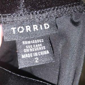 Black velvet leggings from Torrid